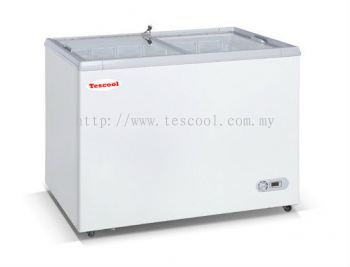 Flat Glass Chest Door Freezer
