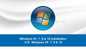 4. Windows XP, 7, 8 & 10 Installation