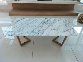 Whtie Marble Coffee Table - Statuario Marble