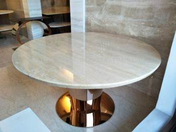 Beige Marble Dining Table - Romano Classico