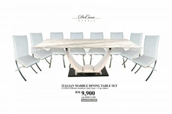 White Marble Dining Table For 8 Seaters
