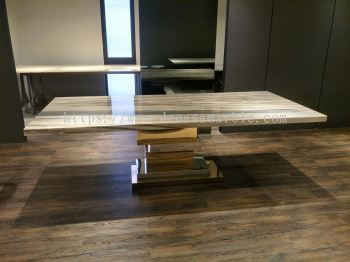 Modern Marble Dining Table - Bluette Marble