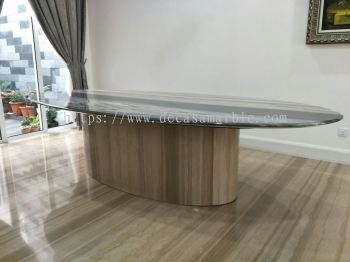 Oval Shape Marble Dining Table