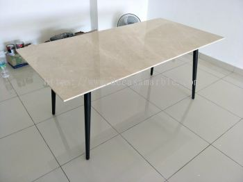 6 Seater Marble Dining Table