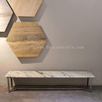 Marble Side Table - Arabescato Salita