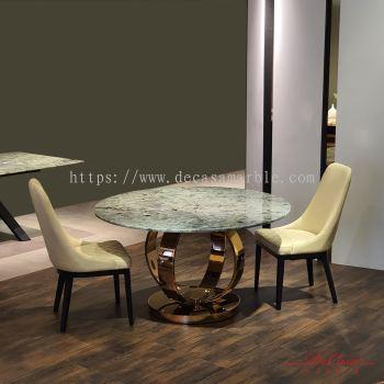 Luxury Granite Dining Table | Blue Jade | 6 seaters
