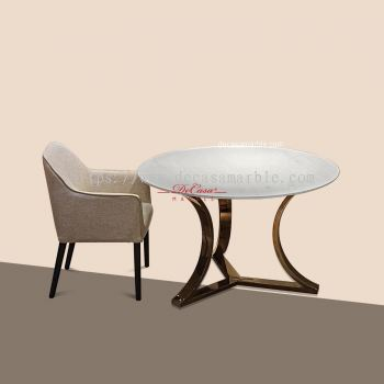 Round Marble Dining Table