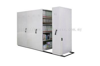 6 bays mobile shelving