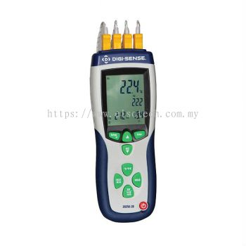 Digi-Sense Pro 4-Input Data Logging T/C Thermometer, Type K, NIST Traceable Cal