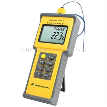 Digi-Sense Calibrated Water-Resistant Thermocouple Thermometer