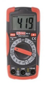123-1939 - RS PRO RS12 Handheld Digital Multimeter 600V ac 10A dc 600V dc