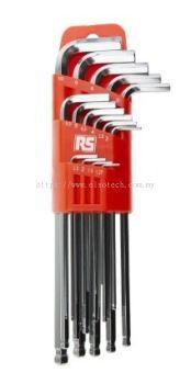 542-3509 - RS PRO 15 pieces Hex Key Set 1.27 mm, 1.5 mm, 2 mm, 2.5 mm, 3 mm, 3.5 mm, 4 mm, 4.5 mm,