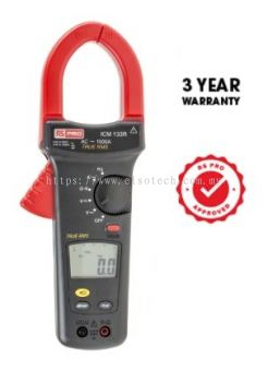 123-3225 - RS PRO ICM133R Clamp Meter, Max Current 1kA ac CAT III 1000 V, CAT IV 600 V