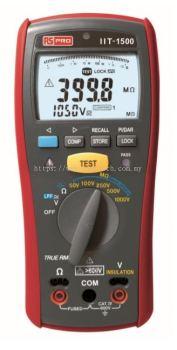 123-3220 - RS PRO IIT1500, Insulation Tester 20GΩ CAT IV 600 V
