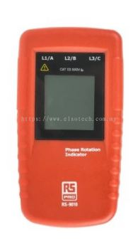 123-1933 - RS PRO Phase Rotation Tester LCD CAT III 600 V, CAT IV 300 V 400Hz 690V ac, Model RS9010