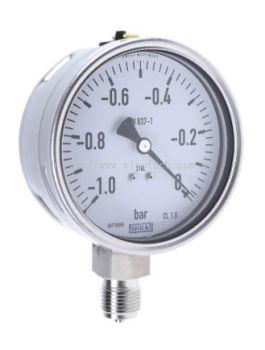 257-8381 - RS PRO Vacuum Gauge, Maximum Pressure Measurement 0bar, Gauge Outside Diameter 100mm, Con