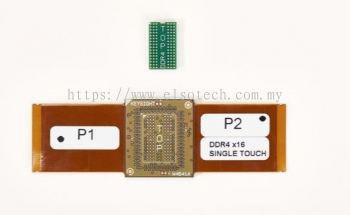 W4641A DDR4 x16 2-wing BGA Interposer for Logic Analyzers, Connects to 61-pin ZIF