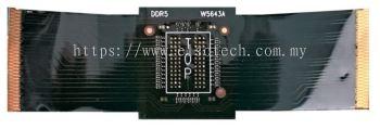 W5643A DDR5 x4/x8 78-ball BGA Interposer for use with U4164A Logic Analyzers