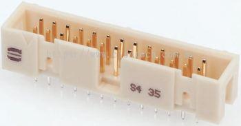 09195646323 Harting, SEK 19, 64 Way, 2 Row, Right Angle PCB Header