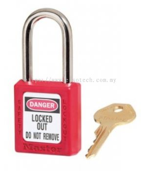 410RED Red Zenex™ Thermoplastic Safety Padlock, 1-1/2in (38mm) Wide with 1-1/2in (38mm) Tall Shackle