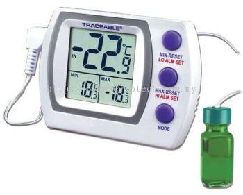 EW-94460-74 Traceable Jumbo Refrigerator/Freezer Thermometer with Calibration; 1 Bottle Probe