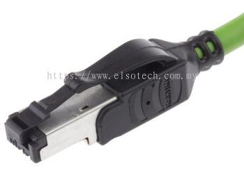 09457711123 HARTING Green PVC Cat5 Cable U/FTP, 1.5m Male RJ45/Male RJ45