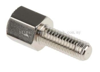 606-670 RS PRO Brass Hex Standoff Male/Female, 5mm, M3 x M3