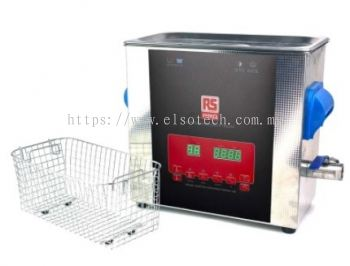 855-5915 RS PRO Ultrasonic Cleaner, 300W, 6L with Lid