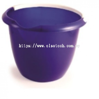 222-8507 - 10L Plastic Blue Bucket With Handle