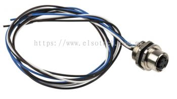208-0578 - RS PRO M12 Front Panel Mount Cable assembly, 4 Core 500mm Cable
