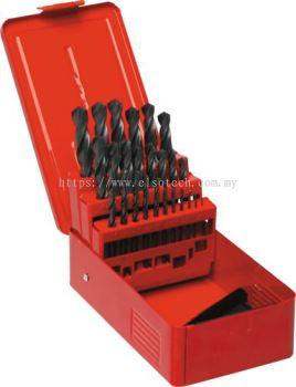 SET OF 25 HSS DRILLS 1-13.00mm x 0.5mm