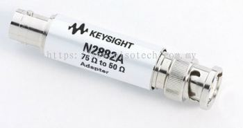 N2882A 75�� to 50�� BNC adapter