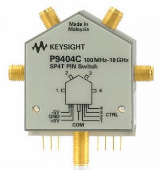 P9404C PIN Solid State Switch, 100 MHz to 18 GHz, SP4T