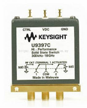 U9397C FET Solid State Switch, 300 kHz to 18 GHz, SPDT