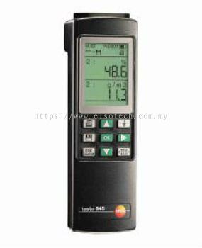 testo 645 - Humidity/temperature measuring instrument