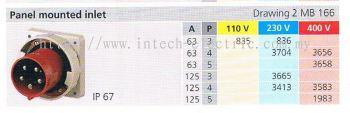 IP67 PANEL MOUNTED INLET (MB 166) 001