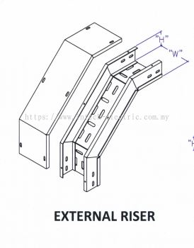 Though Type Perforated Cable Tray Fitting - External Riser