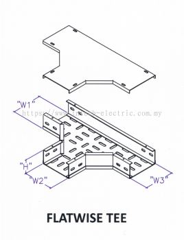 Though Type Perforated Cable Tray Fitting - Flatwise Tee