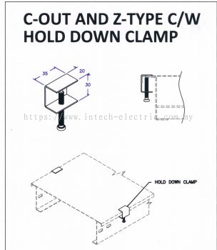 Ladder Accessories - C-Out And Z-Type Cw Hold Down Clamp