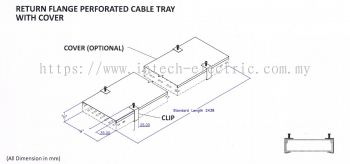 Cable Tray Return Flange With Cover