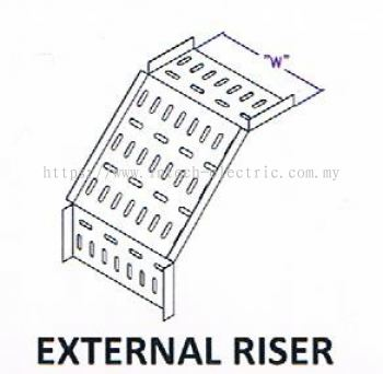 Straight Edge Perforated Cable Tray Fitting - External Riser