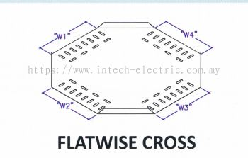 Straight Edge Perforated Cable Tray Fitting - Flatwise Cross