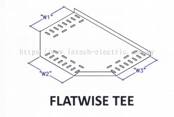 Straight Edge Perforated Cable Tray Fitting - Flatwise Tee