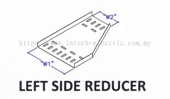 Straight Edge Perforated Cable Tray Fitting - Left Side Reducer