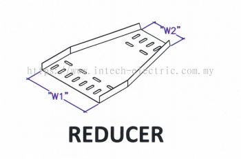 Straight Edge Perforated Cable Tray Fitting - Reducer