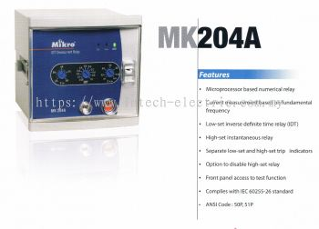 MIKRO MK204A INVERSE TIME OVERCURRENT RELAY