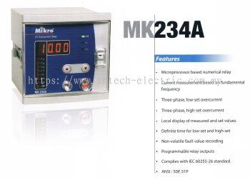 MIKRO MK234A DEFINITE TIME OVERCURRENT RELAY