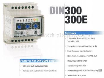 MIKRO DIN300 DIN RAIL EARTH LEAKAGE RELAY