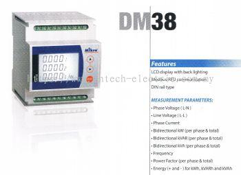 MIKRO DM38-240 DIGITAL METER 100~240VAC