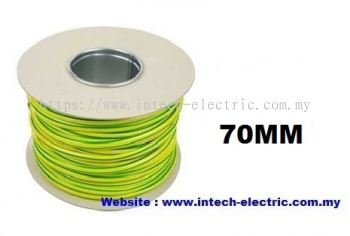 70.0SQMM PVC SINGLE CORE FLEXIBLE CABLE(GREEN-YELLOW)